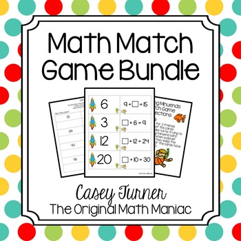 Math Match Games Bundle