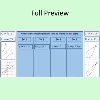 Match Inverses and Graphs - Digital Activity