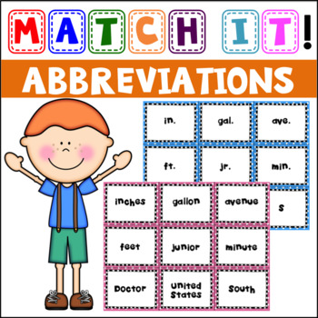 Match It: Abbreviations Concentration and Cut & Paste