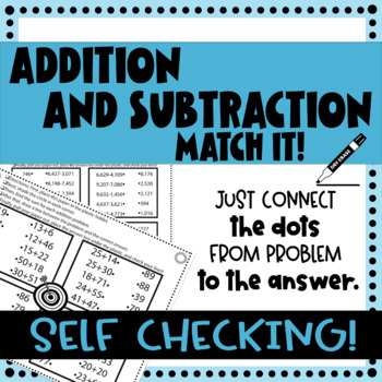 Addition and Subtraction Printable Activity