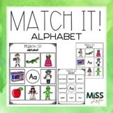 Match It! Alphabet Independent Work Task