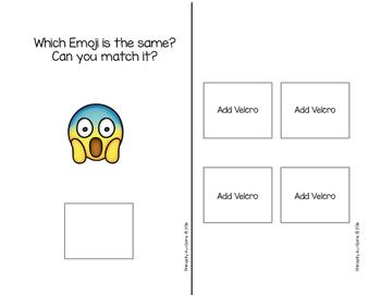 Match It! (An Emoji Matching Velcro Task)