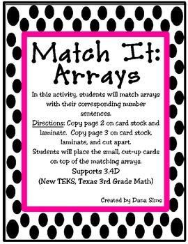 Match It: Arrays (TEKS 3.4D)