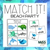 Match It! Beach Party (Summer) Independent Work Task