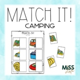 Match It! Camping Independent Work Task