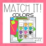 Match It! Colors Independent Work Task
