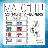 Match It! Community Helpers Independent Work Task