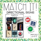 Match It! Directional Signs Independent Work Task {Reading