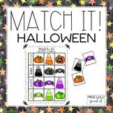 Match It! Halloween Independent Work Task