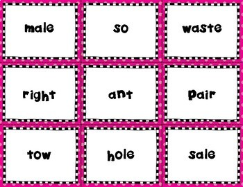 Match It: Homophones Concentration Cards and Cut & Paste