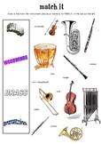 Match It! Instruments of the Orchestra worksheet