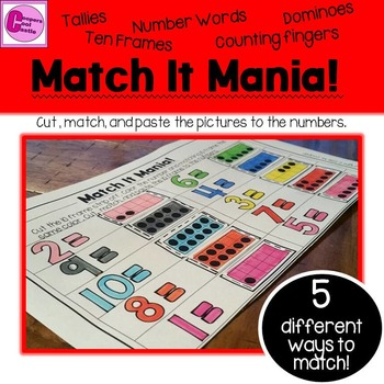 Match It Mania Math Numbers 1-10
