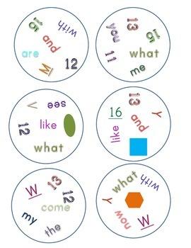 Match It! Read It! Journeys 2012 Common Core Sight Words Units 1-3