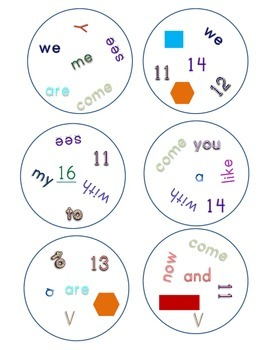 Match It! Read It! Journeys 2012 Common Core Sight Words Units 1-3
