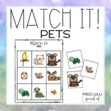 Match It! Pets Independent Matching Work Task