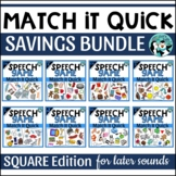 Match It Quick Bundle - Later Developing Sounds: Square Edition