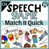 Match It Quick - CH Articulation Game for Speech Therapy