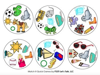 Match It Quick - /S/ Articulation Game for Speech Therapy