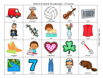 Match It Quick - V Game for Speech Thearpy