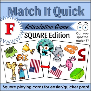 Match It Quick for F - Square Edition