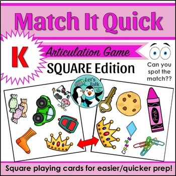 Match It Quick for /K/ - Square Edition