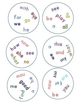 Match It! Read It! Journeys 2012 Common Core Sight Words Units 1-5