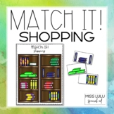 Match It! Shopping Independent Work Task