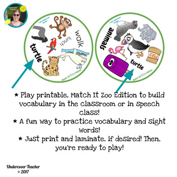 Match It Sight Word and Picture Matching Game Bundle- Paperless, Digital