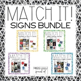 Match It! Signs Bundle {Reading in Real Life}