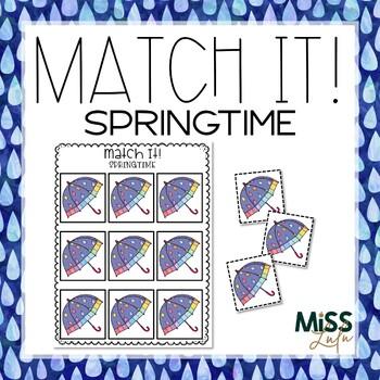 Match It! Spring Independent Work Task