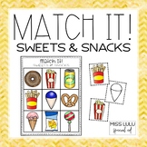 Match It! Sweets & Snacks Independent Work Task