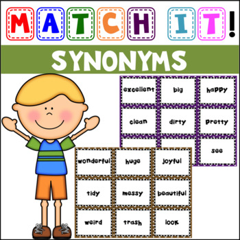 Match It: Synonyms Concentration and Cut & Paste