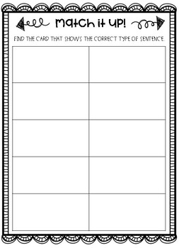 Match It Up - 4 Easy To Use ELA Centers