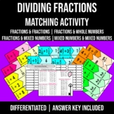 Dividing Fractions Matching 6.NS.1