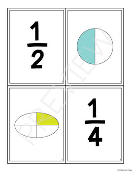 Match It Up Fractions Activity