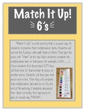Match It Up! Multiplication 6s
