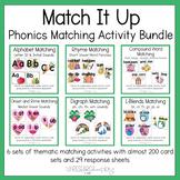 Match It Up: Thematic Phonics Matching Activities Bundle