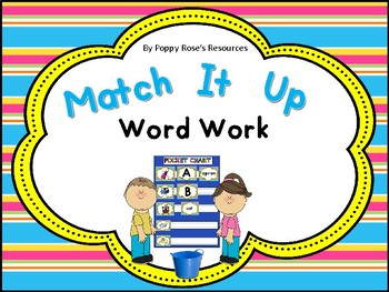Match It Up Word Work