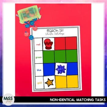 Match It! Winter Holidays Independent Work Task