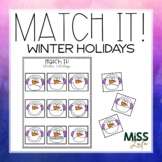 Match It! Winter Holidays Independent Work Task