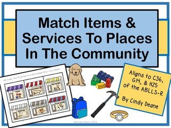 Match Items & Services To Places In The Community