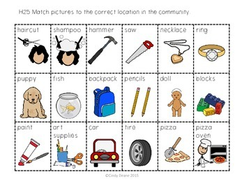 Match Items & Services To Places In The Community (with SymbolStix)