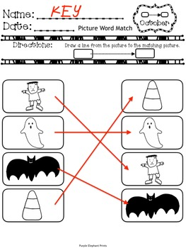 Match, Label, Write worksheets for Beginning Writers