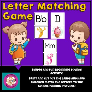 Match Letter to Picture Printable Game