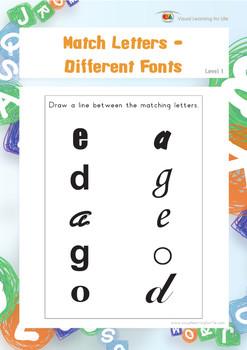 Match Letters-Different Fonts