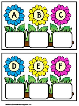 Spring Flowers Lower to Uppercase Letters
