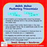 Match Mates - Factoring Trinomials