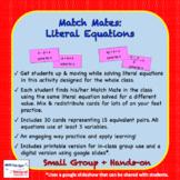 Match Mates - Literal Equations