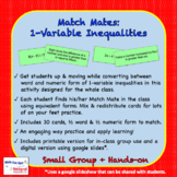 Match Mates - One Variable Inequality