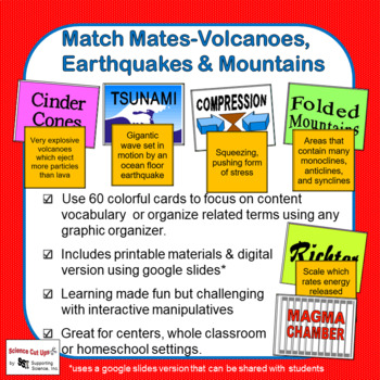 Match Mates-Volcanoes, Earthquakes & Mountains